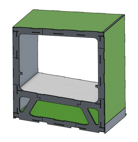 Module 3 Bed - Access the CAD files for the thrid module with built in bed