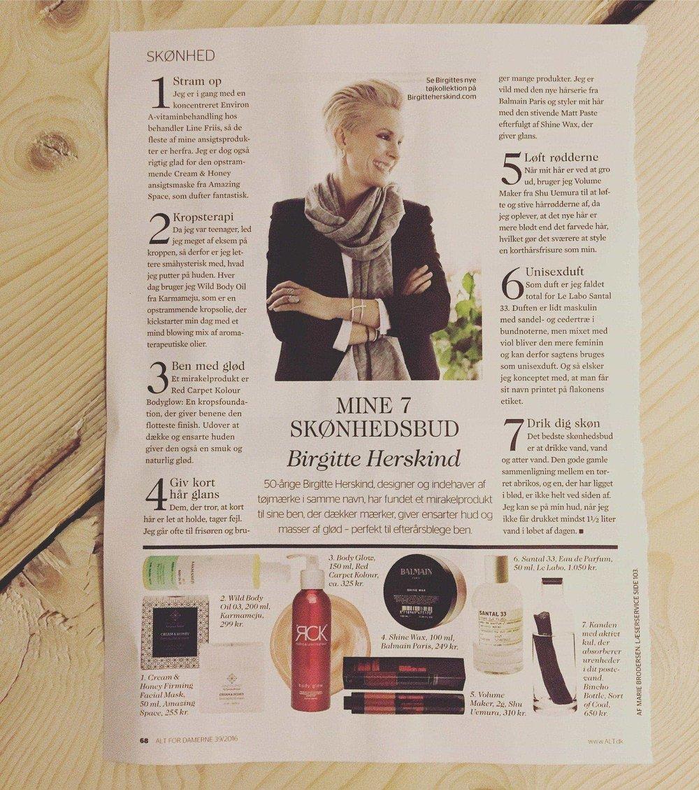 Alt for damerne 2016: Mine 7 skønhedsbud af Birgitte Herskind