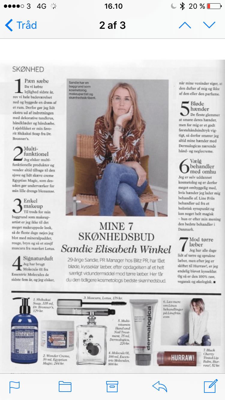 ALT FOR DAMERNE 2015: MINE 7 SKØNHEDSBUD AF SANDIE ELISABETH WINKEL