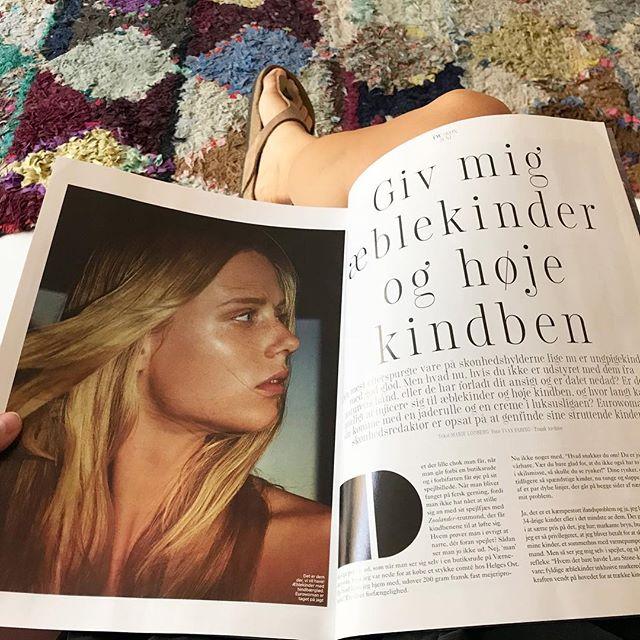 Læs denne måneds eurowoman hvor jeg blandt andet gør dig meget klogere på dine rynker, æblekinder, og om man kan få kindben på krukke 🧐😁