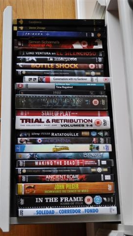 dvd selection at gironalet apartment rental