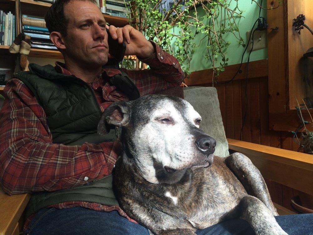 Keith and his original foreman, Mitchell aka Brown Dog.