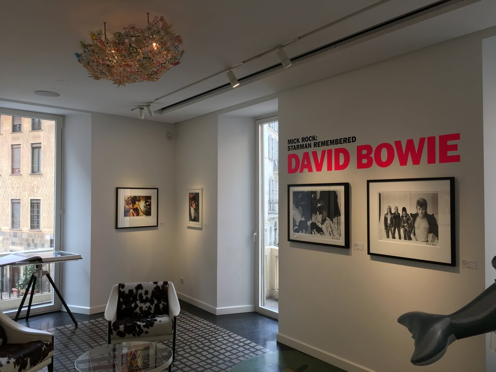 A Mick Rock exhibition on display at Taschen