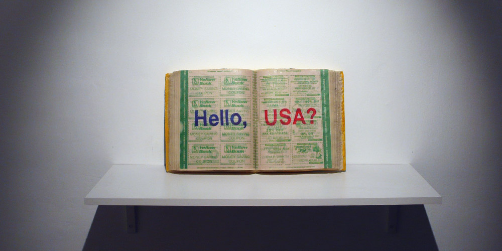 Installation view,   Hello, USA?  ,       Curated by Andrey Parshikov, Contemporary City Foundation, Moscow, Russia 2008