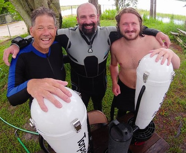 The DPV class is one of many classes we teach here at The Dive Station. Thank you Brian, Luke and Torey by the smiles on your face it looks like a great day of training. #PADI #DPV #underwater #orlando #florida #diving