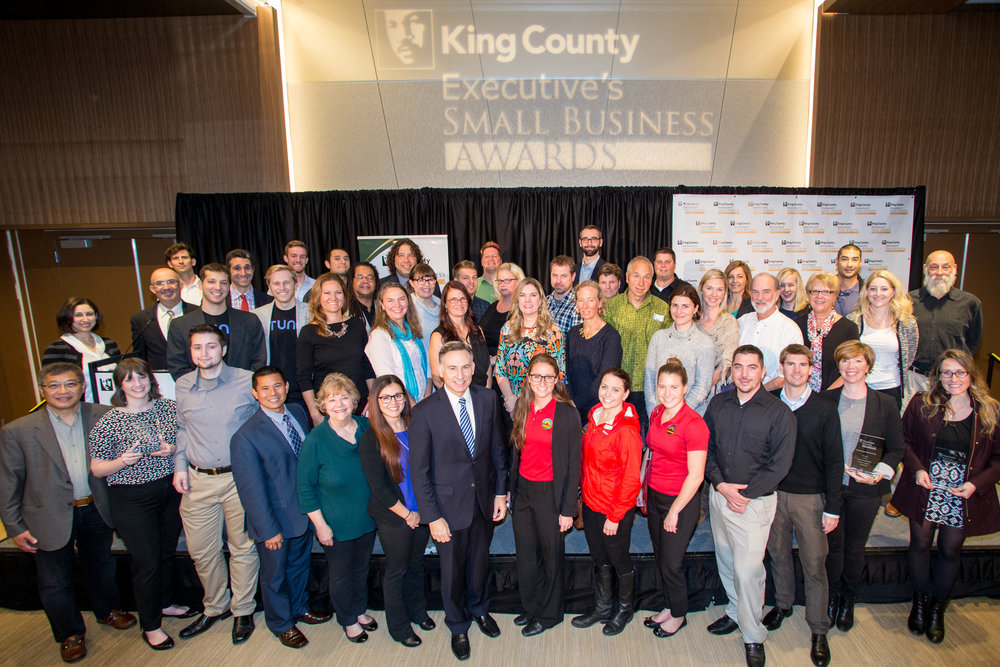 All of the winners and finalists for the 2015 King County Executive Small Business Awards.
