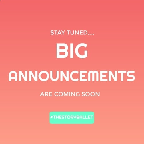 Stay tuned.... #whatsnext #thestoryballet #spring2019