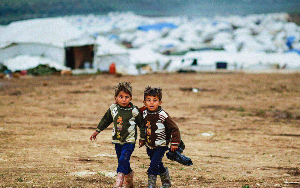 Refugee children in Atmeh, Syria. Photo: Freedom House on Flickr.
