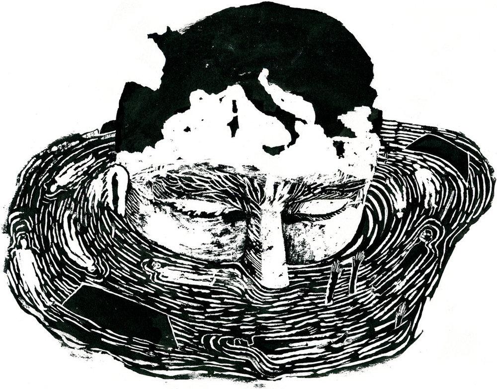 """Illustrasjon #1 til artikkelen """"Migrants Face Fortress Europe's Deadly Moat""""(Illustrasjon: © Arianna Vairo)"""