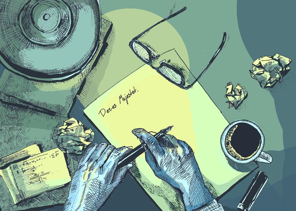 Majids brev (Illustrasjon:  Irina Reshetnikova  ©  Fremmed.no )