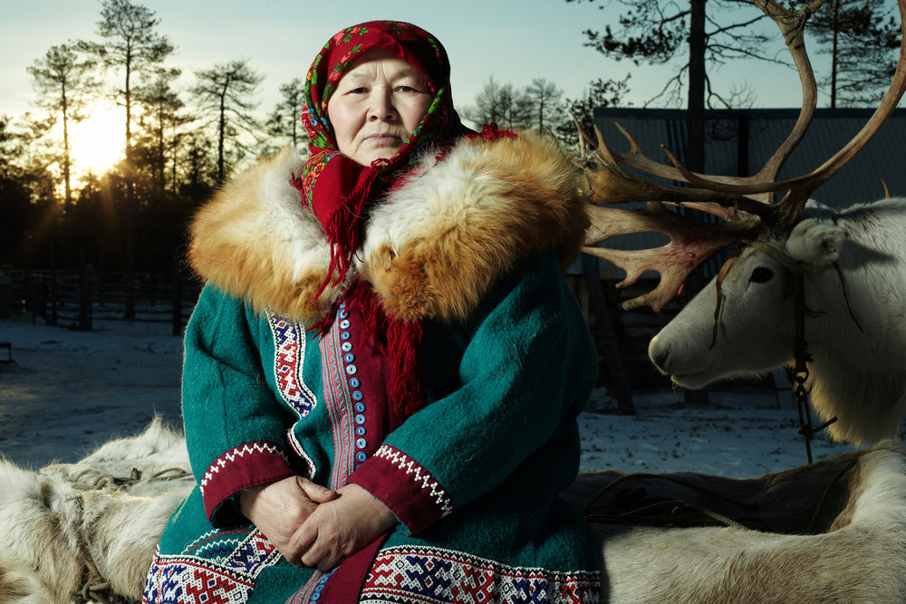 "Catherine K. Kazamkina (Pokacheva), Khanty, born in 1955, from the ""Elk clan""."