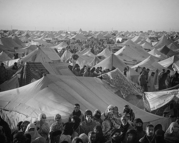 Leiren bestod av over 60 000 innbyggere - boende i 4000 telt.