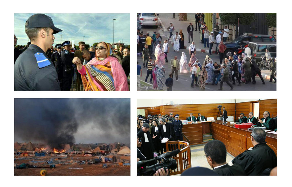 From peaceful protest to persecution. Photo: 1. Anonymous 2. Equipe Media 3. Anonymous 4. Screenshot from local T.V.