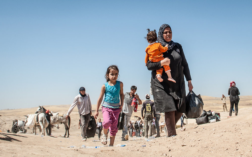 Syriske flyktninger bærer tungt. Foto: NRC_Christian Jepsen