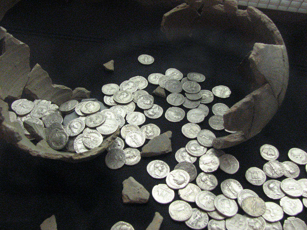 Roman coins by Helen Hall courtesy of Flickr.jpg