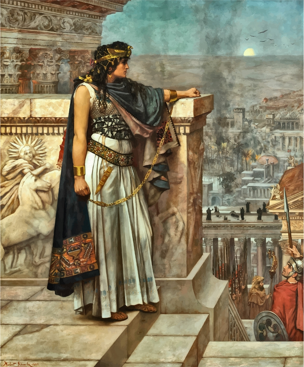 Queen Zenobia's Last Look on Palmyra, by Herbert G. Schmalz, oil on canvas, 1888.