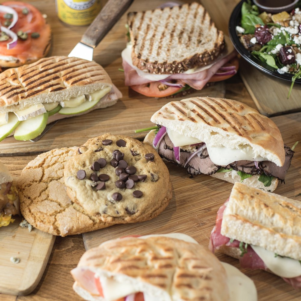 - Letizia's BakeryWe offer a full espresso bar featuring Caffe Umbria Beans, and lots of homemade all-natural muffins, cookies and pastries. Our large selection of fresh lunch items include our famous grilled panini sandwiches, pizza by the slice, salads and several homemade soups.