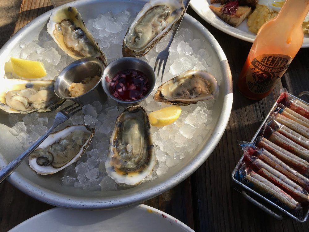 East Coast Oysters  - Rose Mignonette.Cocktail Sauce