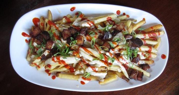 Voodoo Fries  - Pork Belly Queso Jalapeno Gravy Sriracha