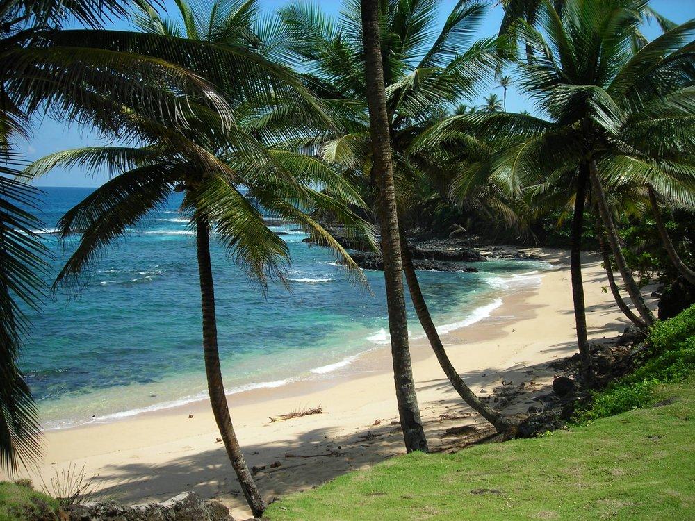 Paradisiske strender på Rolas - Sao Tomé