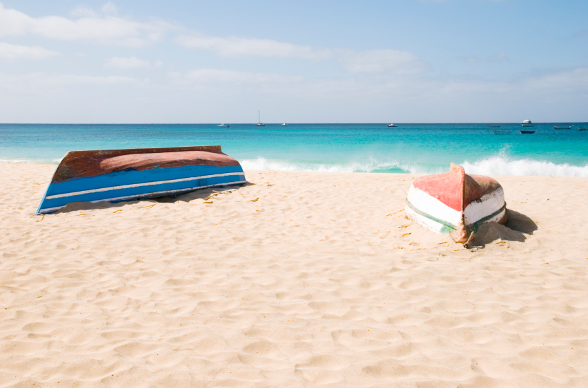 De typiske båtene på Kapp Verde