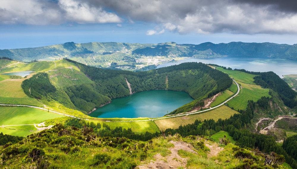 Azorene med sine vulkaner