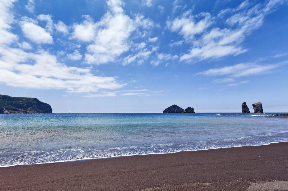 Få, men fine strender på Azorene