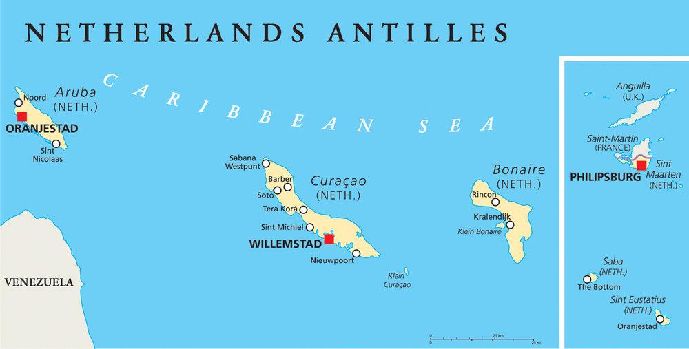 Curacao - autentisk, sjarmerende, variert og paradisisk - med den fargerike hovedstaden Willemstad