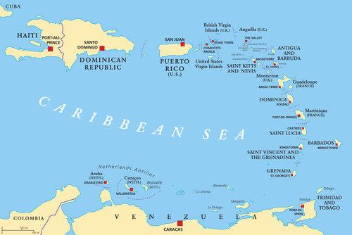 kart karibien Strandferie på Antigua — Espnes.no kart karibien