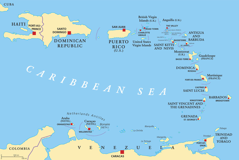 Grenada blir ofte kalt krydderøya og er verdens nest største produsent av muskatnøtt. I en duft av nettopp muskat finner du myk, hvit sand og krystallklare bølger.