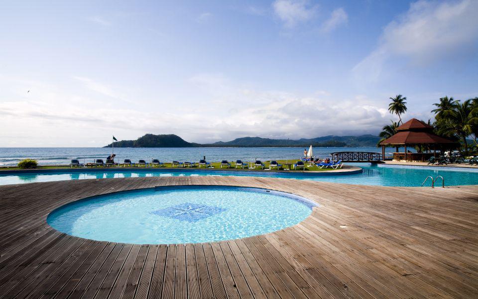 Pestana Equador på Rolas Sao Tomé er en nydelig resort i rolige omgivelser