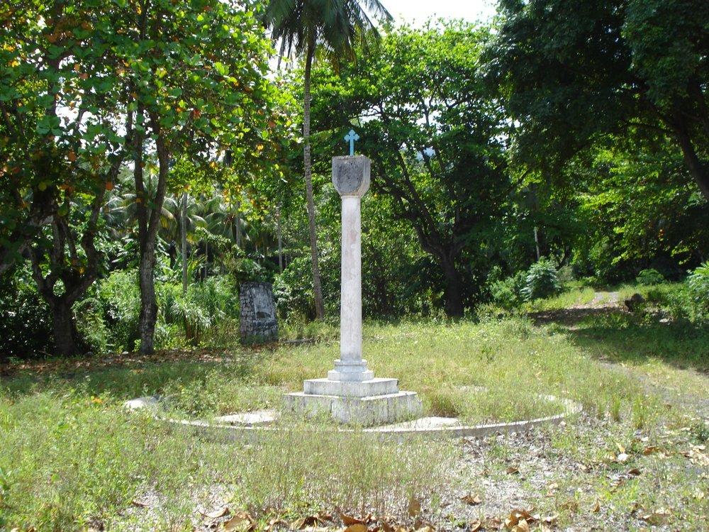Stedet hvor de første pStedet hvor de første portugiserne slo seg ned på Sao Tomé i 1469ortugiserne kom til på Sao Tomé i 1469