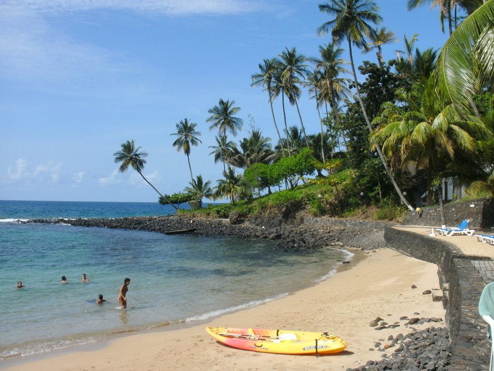 Flotte stender på Sao Tomé