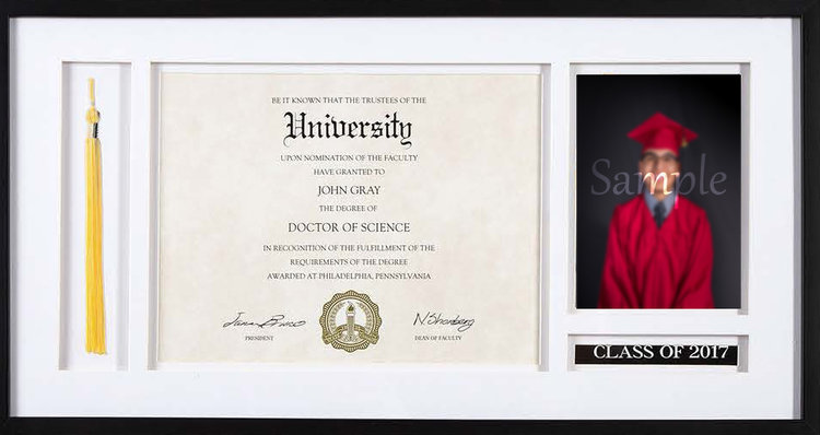 Diploma & Tassel Premium Frame — Nathan Colbert Photography