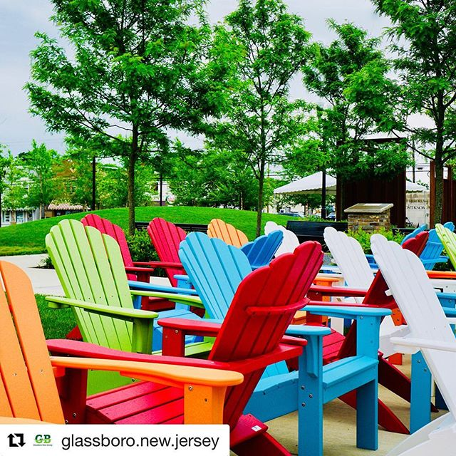 #Repost @glassboro.new.jersey with @get_repost ・・・ New Adirondack chairs are getting us anxious for #summerfun2018 at #glassboro Summer Fest! #craftbeer & wine, #livemusic, activities and a special presentation: Interactive #aliceinwonderland presented by @creativeglassboro and sponsored by @nexusglassboro  https://www.glassboro.org/summerfest/