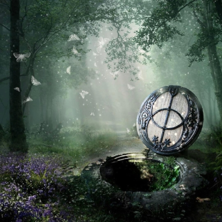 Chalice Well art by Angie Latham