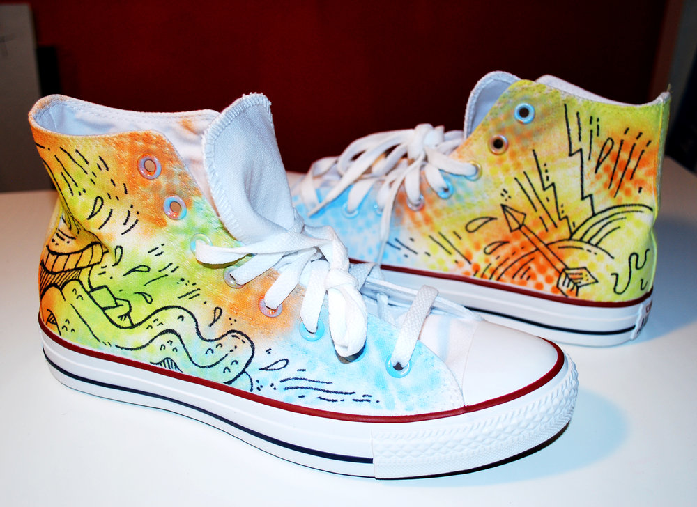 Custom Converse - Hand Painted 30 Pairs, 2015