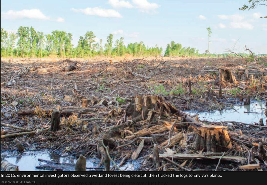 October 10, 2018, National Public Radio WFAE 90:   Post-Hurricane Floods Renew Debate Over North Carolina Wood Pellet Industry