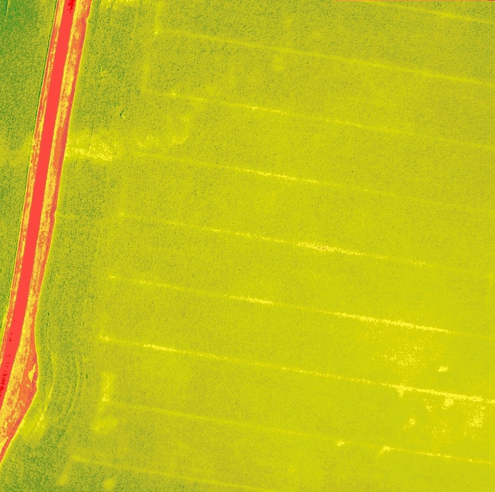 Plugged nozzle on anhydrous ammonia applicator (NDVI)