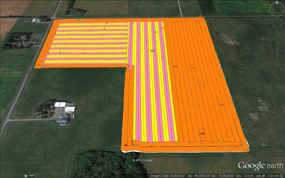 Planting Crop Hybrid Map