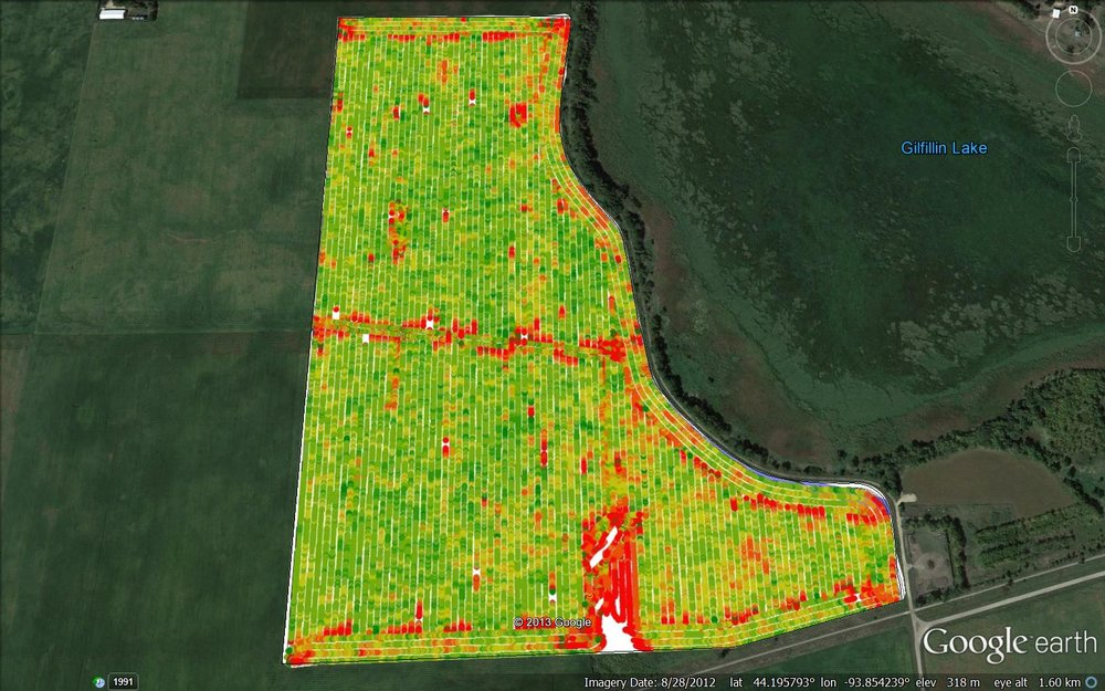 Hybrid Machine Yield Map