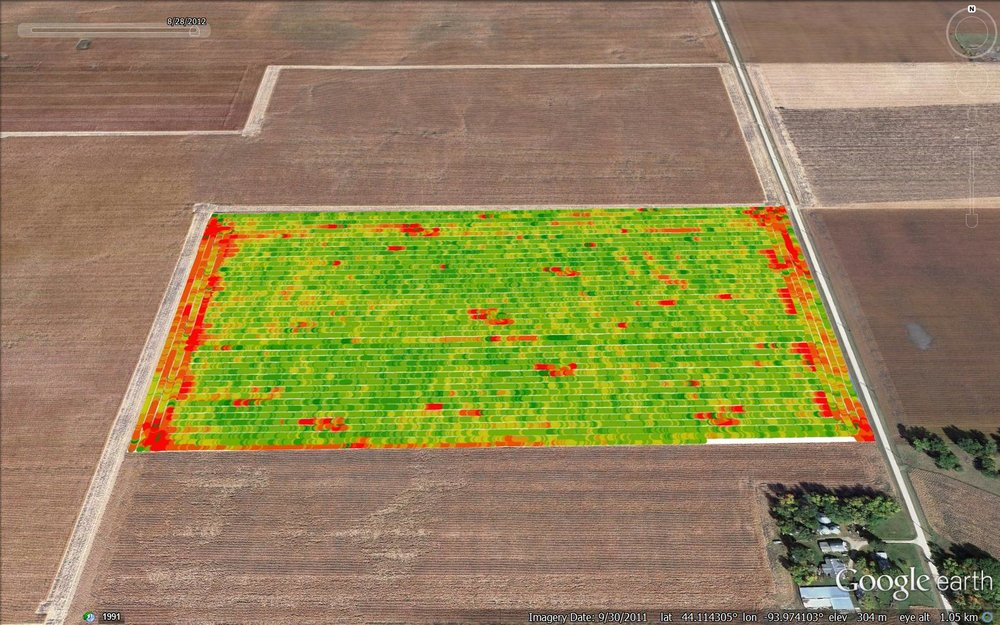 Machine Yield Monitor Map