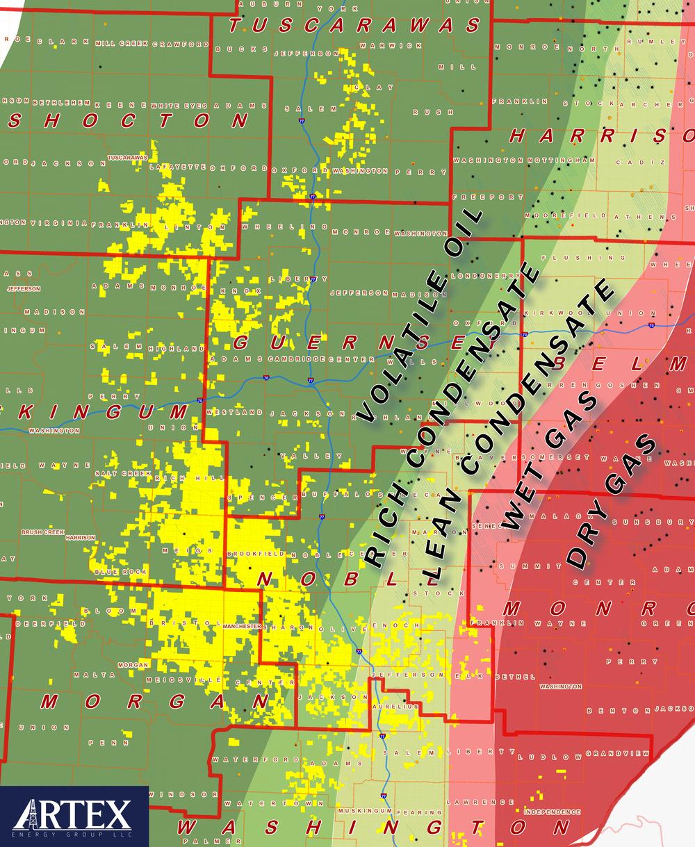 Artex Energy Group Land Position