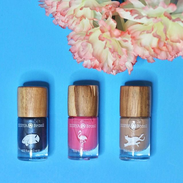 I love these @suryabrasilvegan nail polishes. The Flamingo (pink) is my favorite! The three pictured are from their latest collection and are named after exotic animals ✨ #collab #nashvilleblogger
