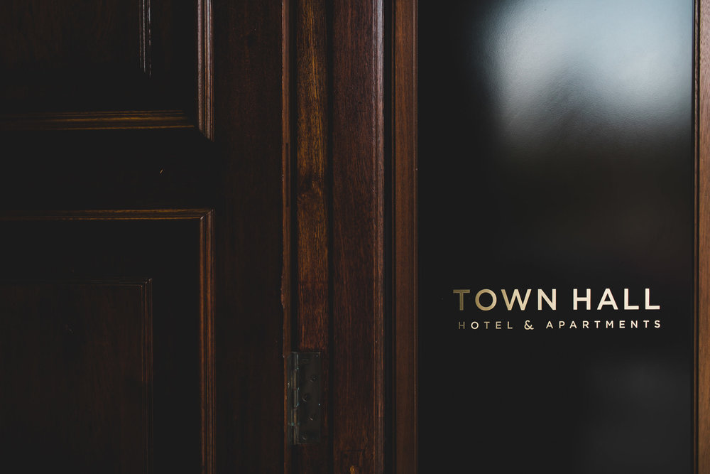 town hall hotel front door livery