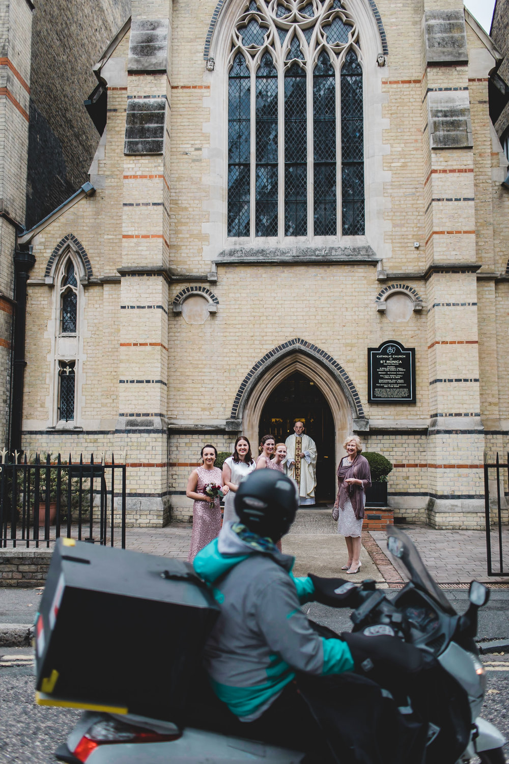 bridal party deliveroo driver