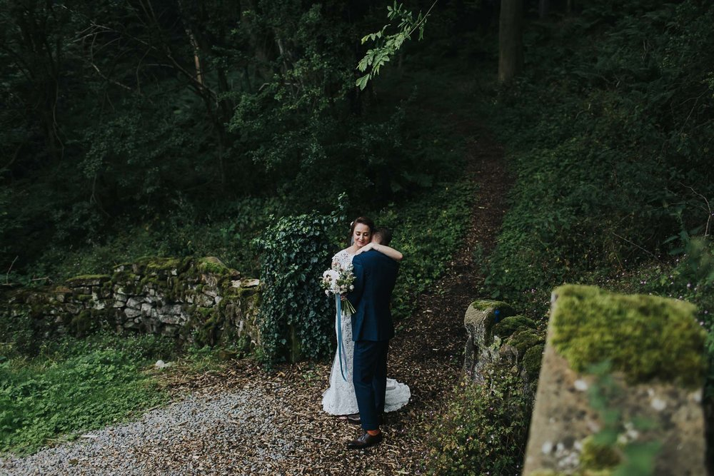woodland walk bride groom natural retreats
