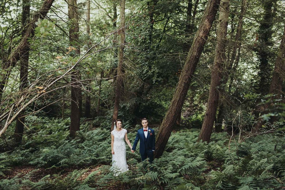 wedding photo at natural retreats in the woods
