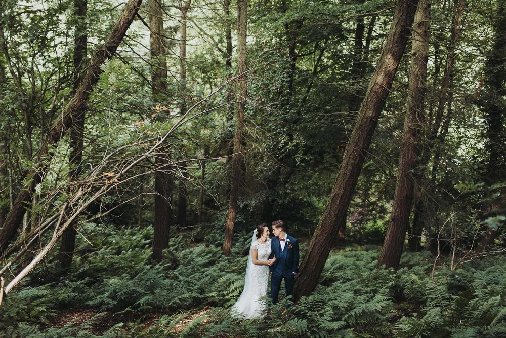 woodland wedding at natural retreats