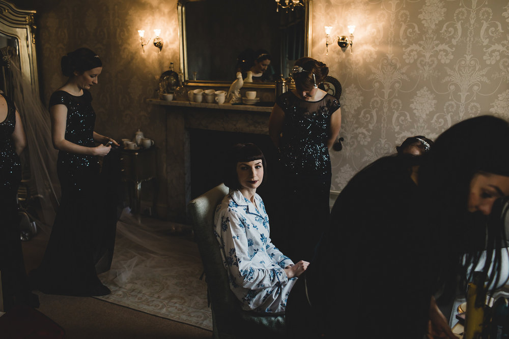 Bridal prep Prestwold Hall
